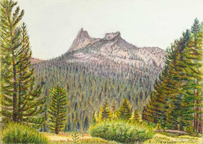 Cathedral Peak Tuolumne giclee fine art reproduction