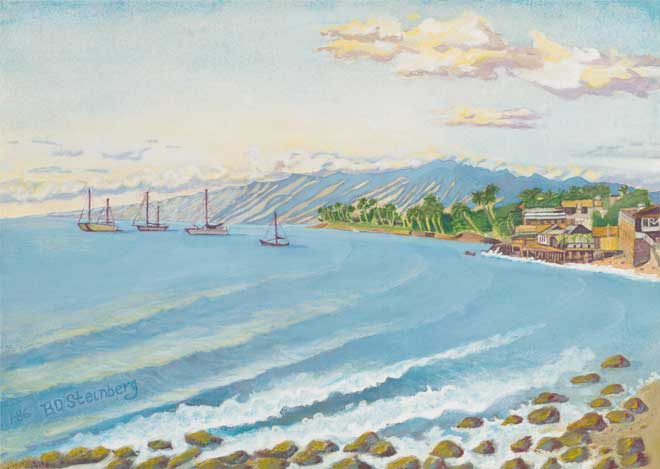 Lahaina Harbor giclee fine art reproduction