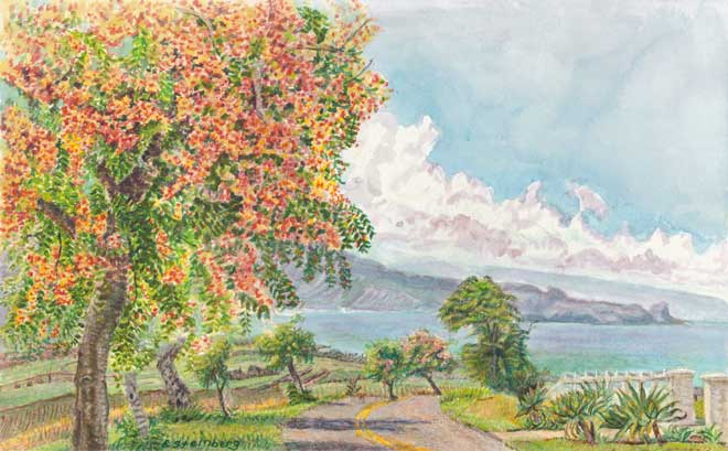 Makawao Autumn View giclee fine art reproduction