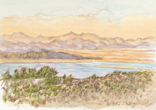 Mono Lake Sunset giclee fine art reproduction