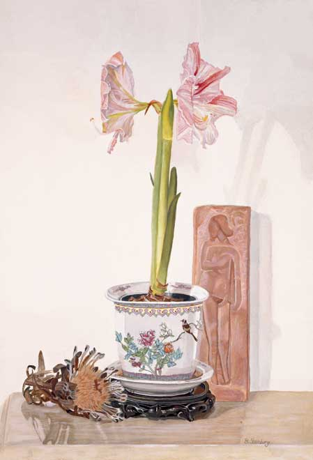 Orchids and Protea giclee fine art reproduction